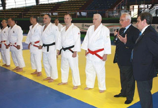 Greeting from Italian Judo Federation President Mr Pellicone (Courtesy of EJU)