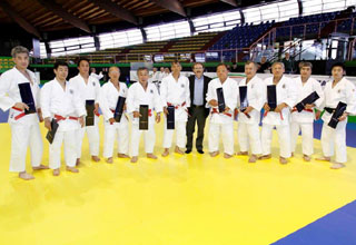Italian ties were given to Kodokan delegates (Courtesy of EJU)
