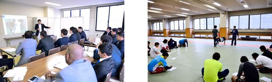 射手矢岬講師による「トレーニング理論」と「トレーニング実習」